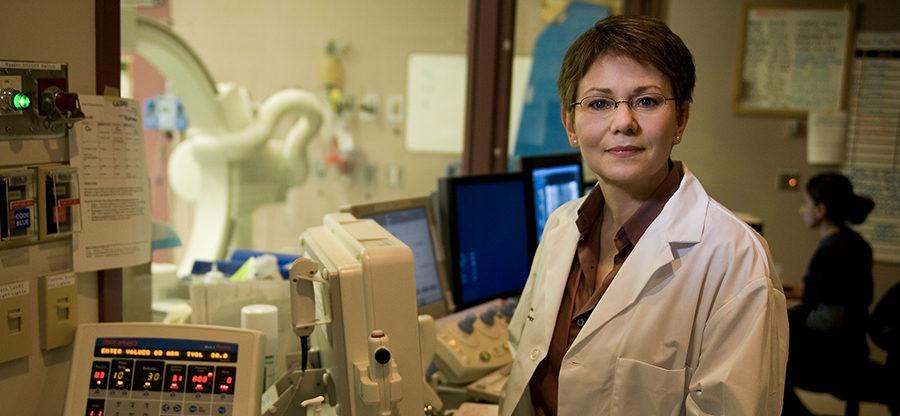 CHÉOS Program Head of Cardiovascular Health Dr. Karin Humphries in medical lab